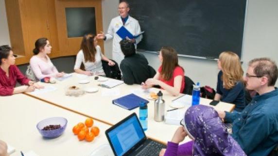 Dr. Kolars leading instruction session