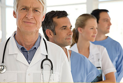Group of physicians standing together